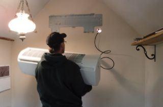 Installing heat pump