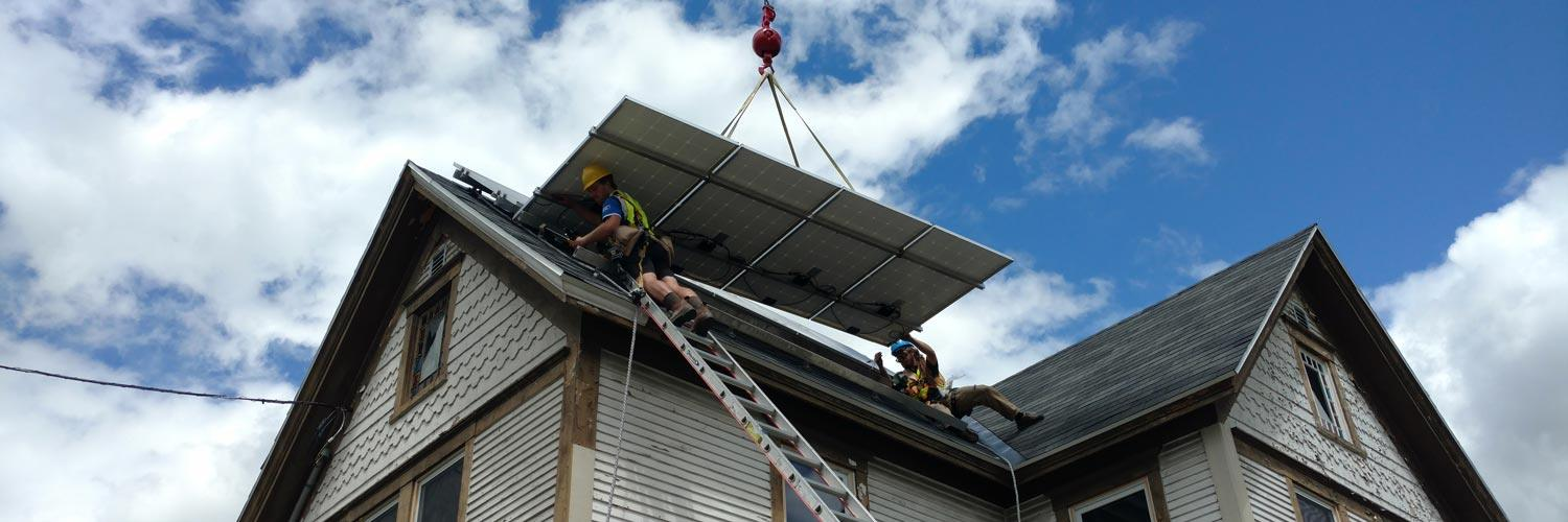 HEAT Squad Solar Panel Installation - NeighborWorks of Western Vermont