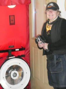 Sally with Blower Door